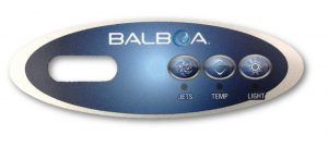 Balboa VL200 3 Button Overlay