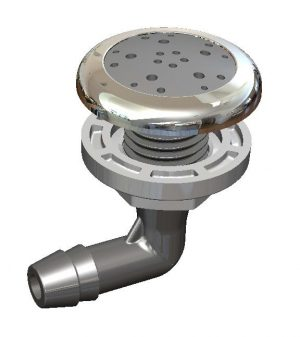O2 Spa Pool Air Injector - Stainless Steel