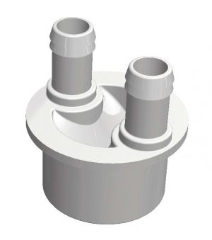 Water Manifold 50 mm Spigot - 2 X 19 mm port