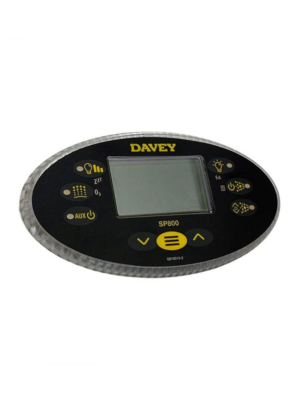 Davey Spa-Quip SP800 Oval Touch Pad and Overlay