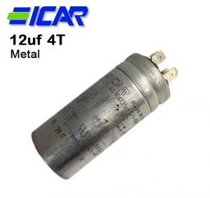 ICAR Metal 12uf Capacitor, Quick Connect