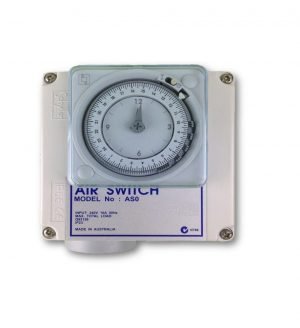Single Outlet 15amp Air Switch Box c/w Time Clock